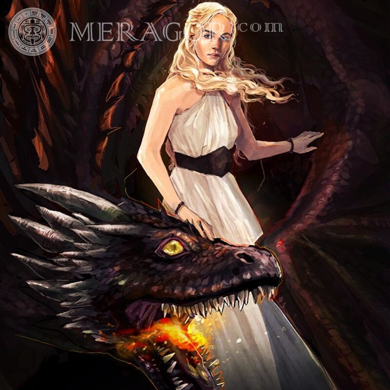 Art about Daenerys and dragons