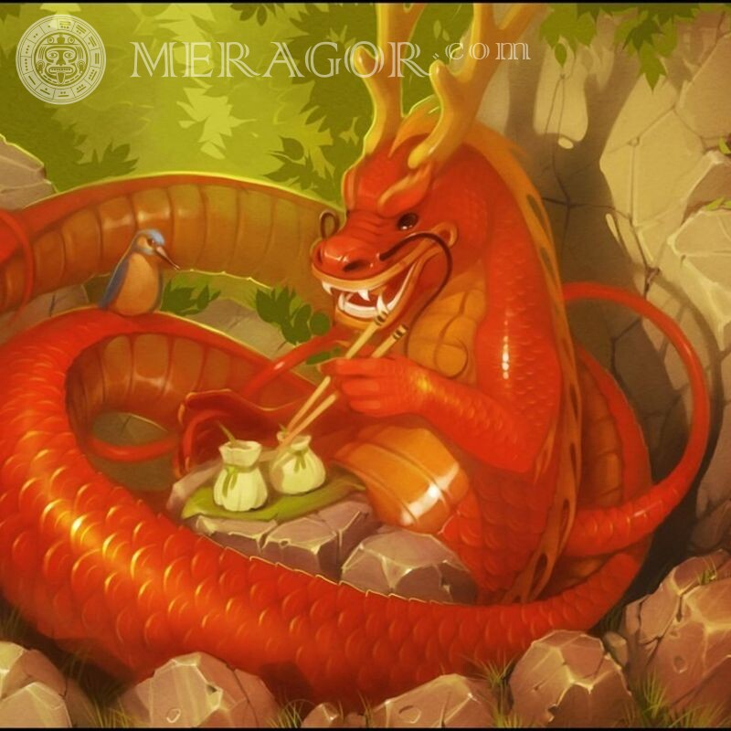 Chinese dragon cool icon